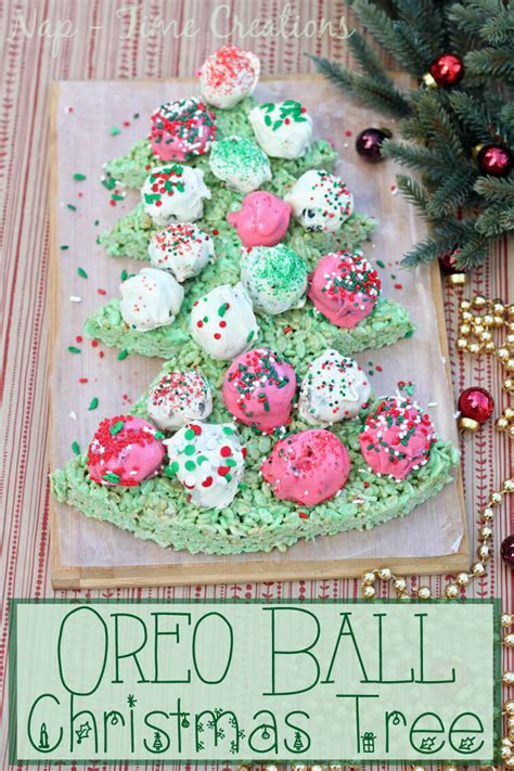 balled christmas tree oreo cookie tree sew savory