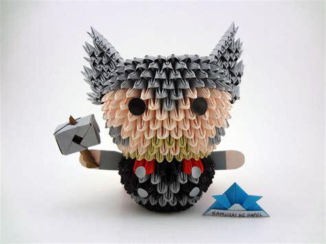 3d Origami Marvel Avenger origami 3d thor the samurai de papel