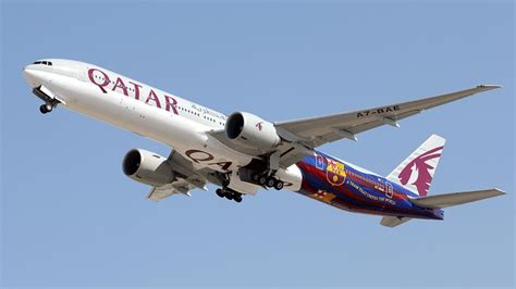 barcelona qatar airways qatar airways will fly with a boeing 777 kitted out in fc