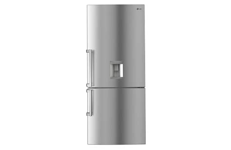 Non Plumbed Water Dispenser by Lg Gb W450uplx Fridge Bottom Mount With Non Plumbed Water