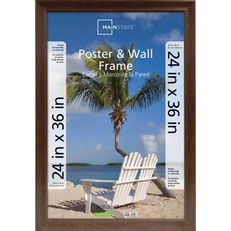 48 X 60 Poster Frame by Mainstays 24x36 Wide Walnut Poster And Picture Frame