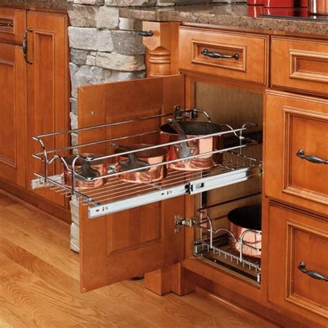 kitchen cabinet storage rev a shelf pull out 2 tier wire basket contemporary