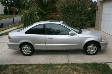 1999 2 door honda civic purchase used 1999 honda civic ex coupe 2 door 1 6l silver