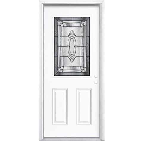 34 Exterior Door Masonite 34 Inch X 80 Inch X 4 9 16 Inch Antique Black 1 2 Lite Left Entry Door With