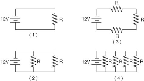 which of the diagrams represents resistors connected in series june 2003 part 3