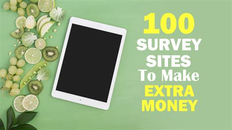 Make Money Online 100 Free - 100 free online survey sites to make money passive income wise