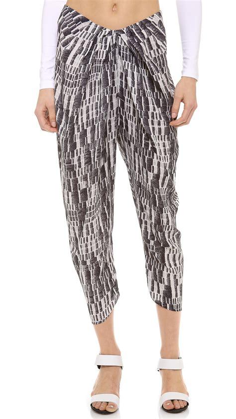 draped pants willow draped pants in black lyst