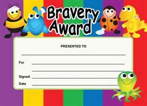 Bravery Award Certificates