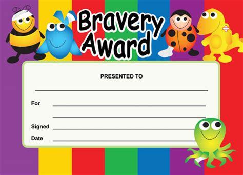 bravery certificate template bravery award certificates