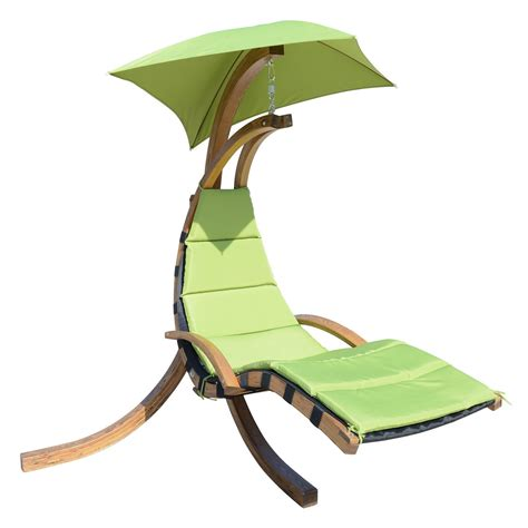 hanging swing chair outdoor outdoor wooden hanging chaise lounger arc stand hammock