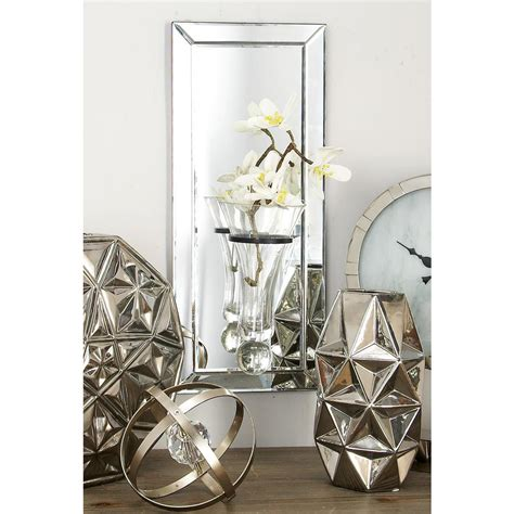 Modern Wall Vase by Modern Mirror Wall Panel With Suspended Glass Vase 87279
