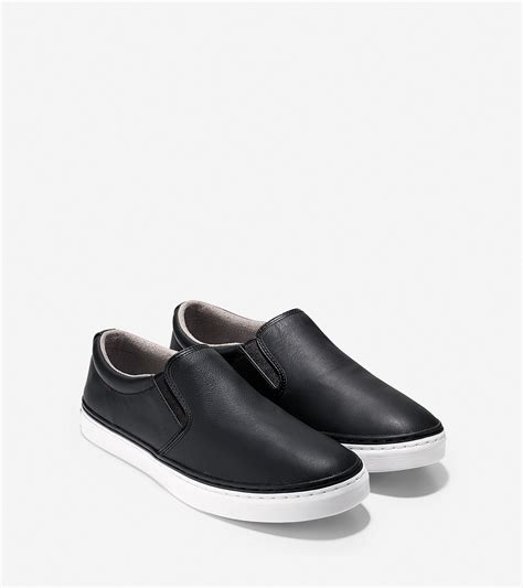 cole haan falmouth slip on in black for lyst