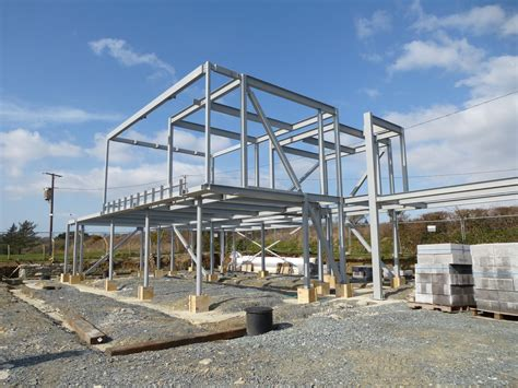 steel frame design exle house construction of steel kit homes erected home wall
