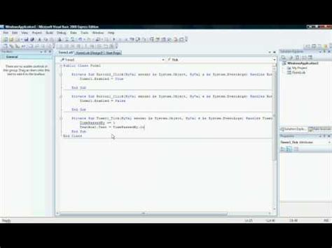 tutorial vb net 2008 pdf visual basic 2008 tutorial quot how to make a timer quot youtube