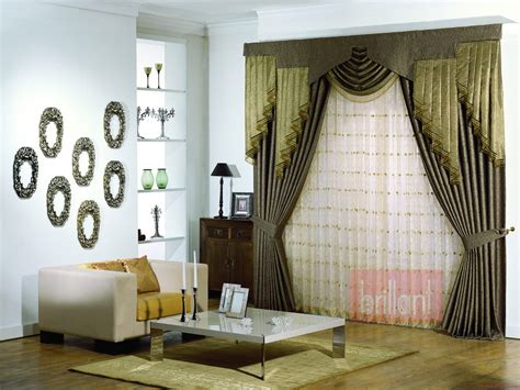 modern living room curtains with valance ideas covering
