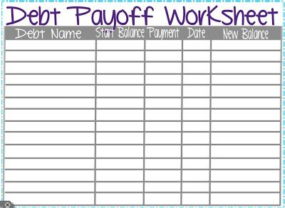 Pay Debt Spreadsheet Free by Debt Snowball Worksheet Printable Search Results