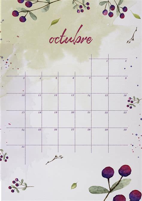 calendario rosea l septiembre 2016 para imprimir organizacion m 225 s de 25 ideas incre 237 bles sobre calendario octubre 2016