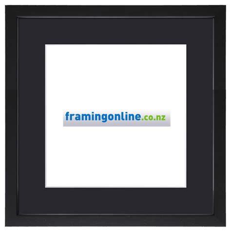 10 X 10 Black Frame With Mat - 10 quot x10 quot square black frame 406 black mat 10x10 quot square