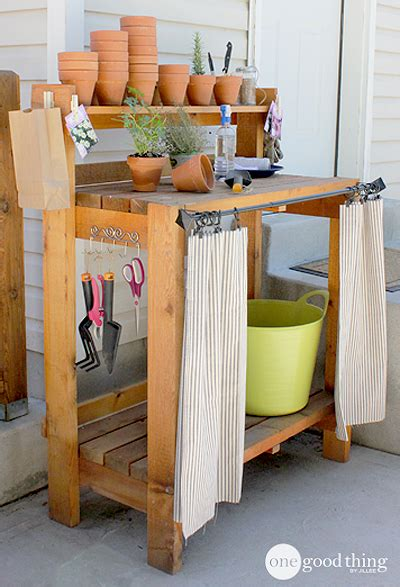 inexpensive potting bench how to quot pimp quot your potting bench one good thing by jillee