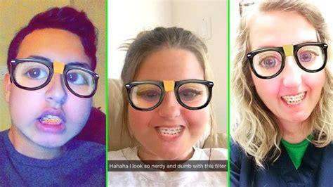 snapchats nerd filter     real