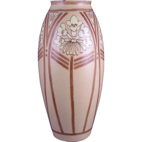 art design vase porcelain limousine pl limoges arts crafts floral design