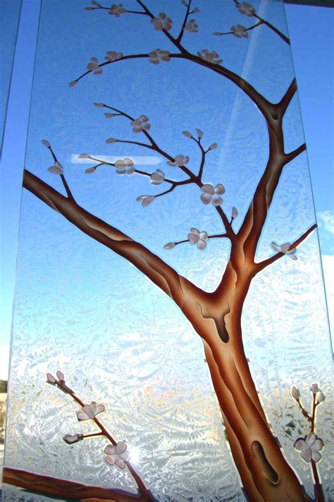 Art Deco Cabinet Pulls Frosted Glass Doors Tree Designs Sans Soucie Art Glass