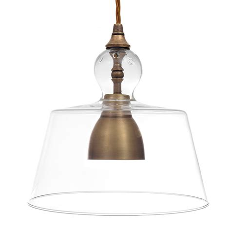 Pendant Light Shades For Kitchen Antiqued Brass Kitchen Pendant Light Lovell Glass Shade Pendant