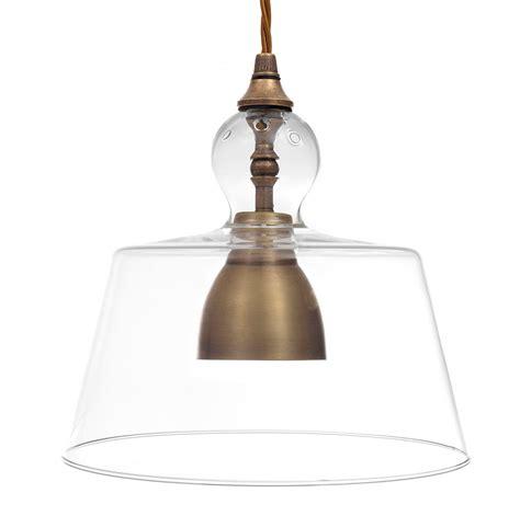 Antiqued Brass Kitchen Pendant Light Lovell Glass Shade Pendant Light Shades For Kitchen