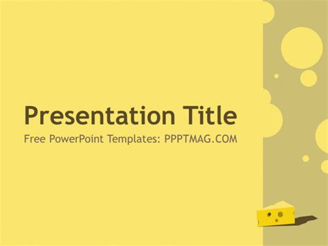 Free Cheese PowerPoint Template   PPTMAG