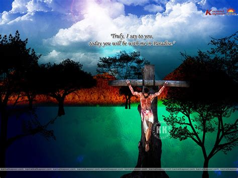 gambar fotoshop keren yesus di salib wallpaper kristiani