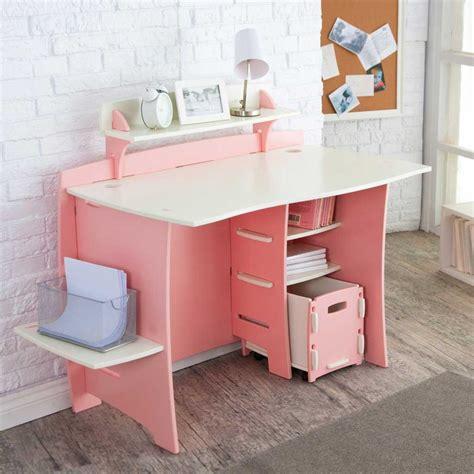 Pink Laptop Desk Computer Desk Cart For Home Office