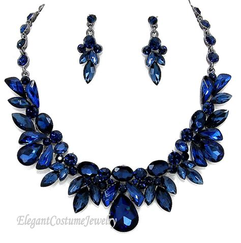navy blue and gold costume jewelry style guru fashion