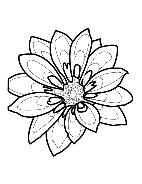 Outline Sketches Of Flowers by Flower Outline By Rieaki On Deviantart