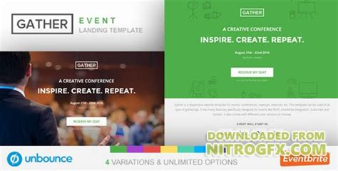 themeforest unbounce themeforest unbounce event landing page template