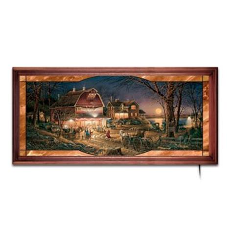 the bradford exchange home decor terry redlins harvest moon ball stained glass wall decor art