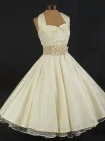 Vintage style tea length wedding dress 1950s inspired short wedding
