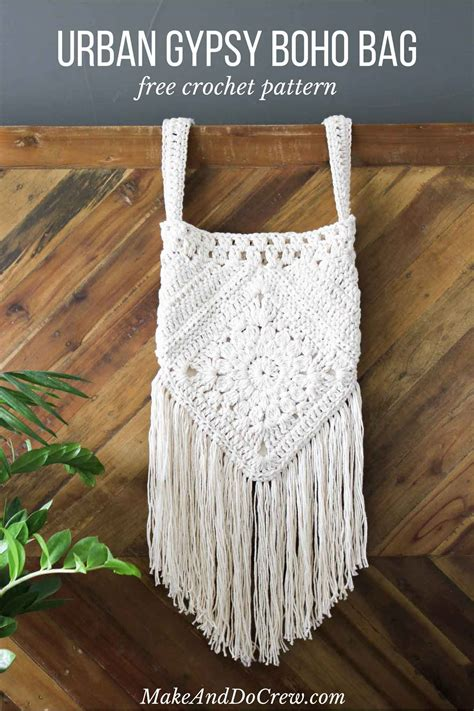 crochet pattern for boho bag urban gypsy boho bag free crochet pattern make do crew