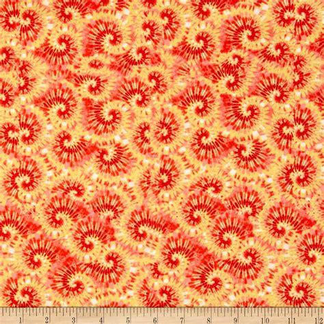 tie dye upholstery fabric tie dye swirl yellow red discount designer fabric