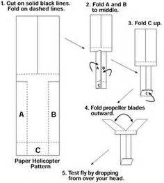 Make A Helicopter Out Of Paper - easy paper helicopter homeschooling