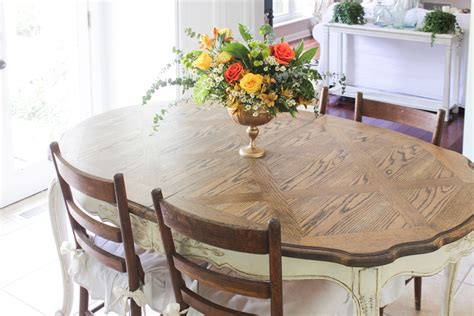 Refinish Oak Kitchen Table by How To Refinish A Dining Table Shades Of Blue Interiors