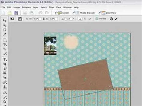 Photoshop Elements Make Digital Scrapbooking Page Layouts Youtube Free Scrapbook Templates For Photoshop