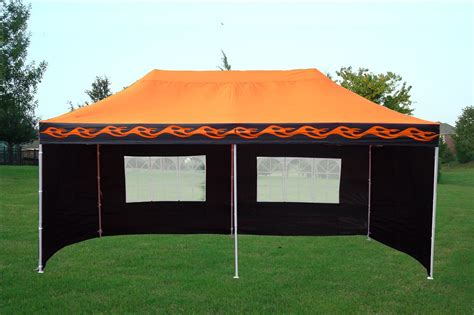 15 X 20 Gazebo 10 X 20 Orange Pop Up Tent Canopy Gazebo