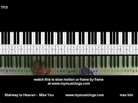 tutorial piano stairway to heaven how to play stairway to heaven miss you piano