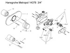 hansgrohe metropol 3 4 quot shower valve shower spares and