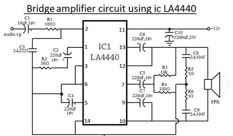Ic La 4440 Integrated Circuit La4440 la4440 ic lifier circuit diagram