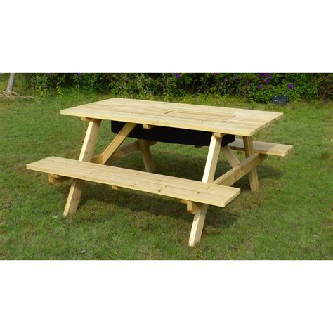 backyard chirper merry products cooler picnic table