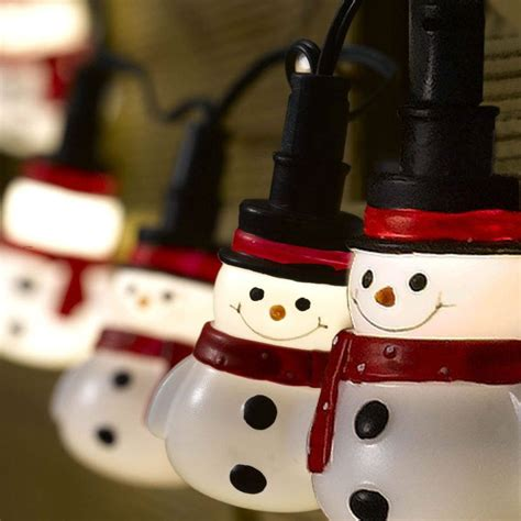 10 Led Battery Snowman Fairy String Lights By Garden Snowman String Lights