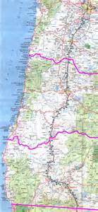 map of california oregon map of oregon and california coast