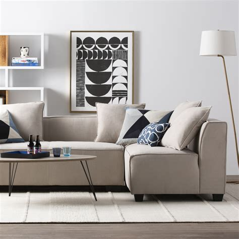 Sofa For Living Room modern contemporary living room furniture allmodern