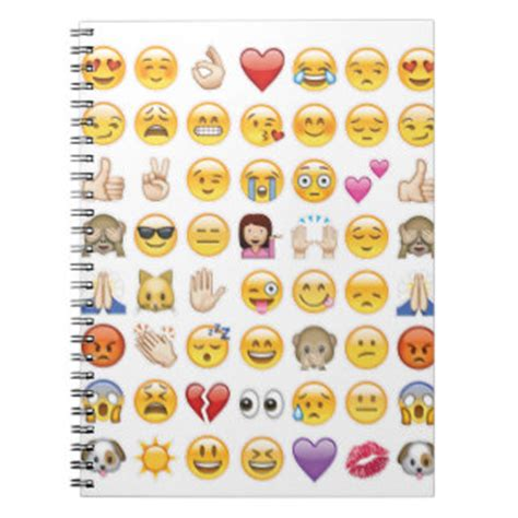 emoji journal emoji journals emoji journal spiral notebook designs